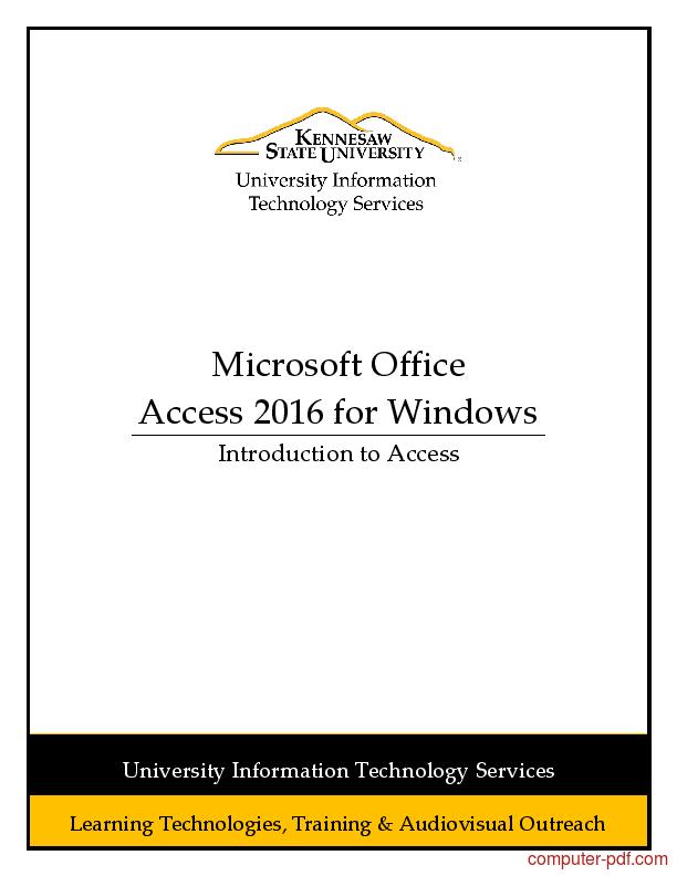 Ebook Belajar Access 2010