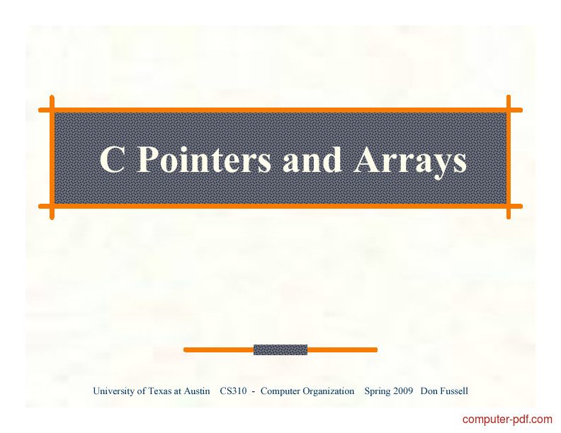 Tutorial C Pointers and Arrays 1