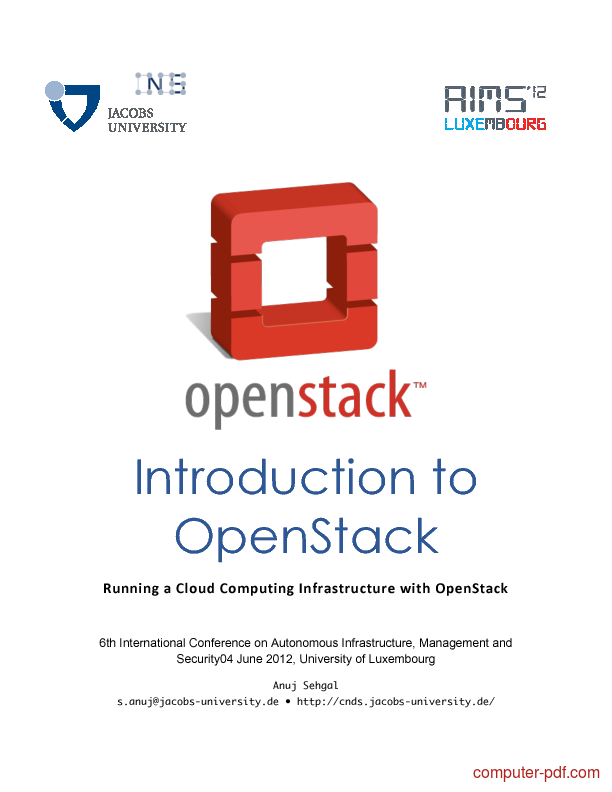 PDF] Introduction to OpenStack free tutorial for Beginners