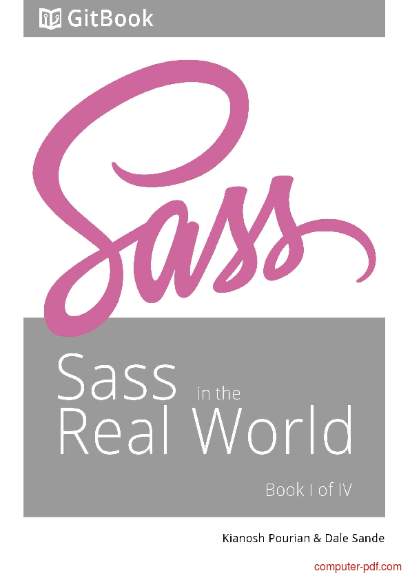 Sass For Web Designers Pdf