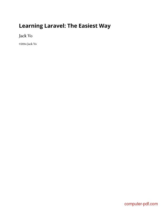 laravel tutorial pdf