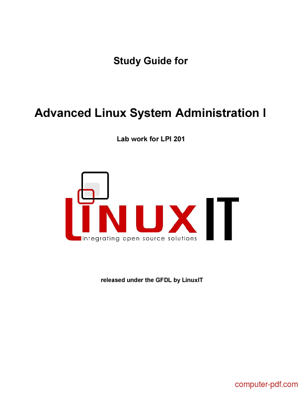Tutorial Advanced Linux System Administration I ( LPI 201) 1