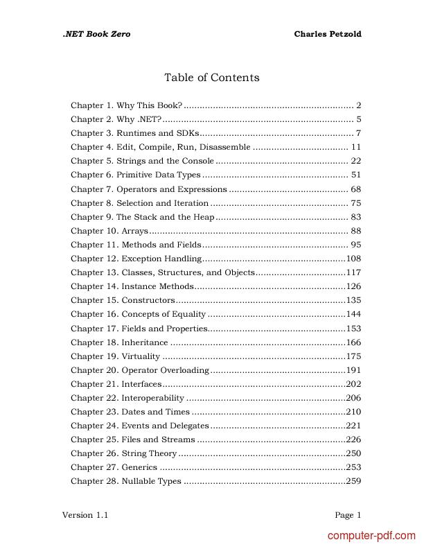 course .NET Book Zero