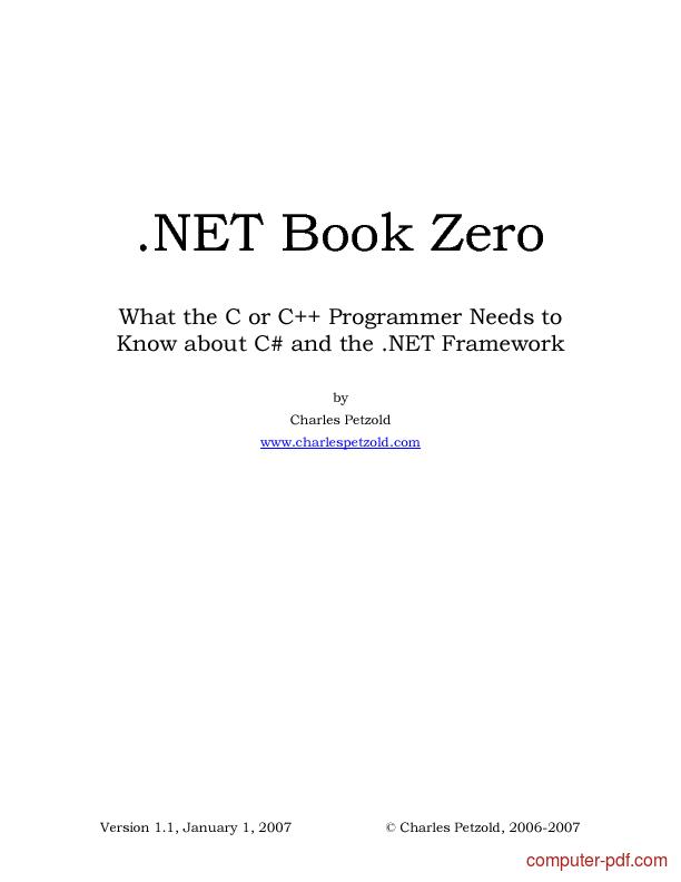 Tutorial .NET Book Zero 1