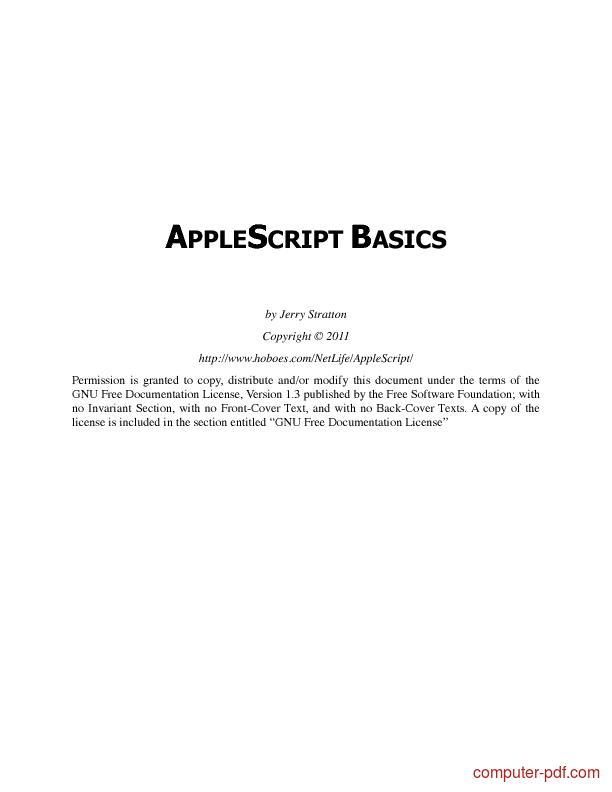 Tutorial Applescript Basics 1