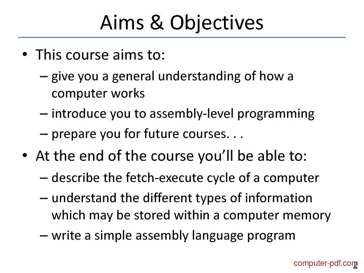 course Computer Fundamentals