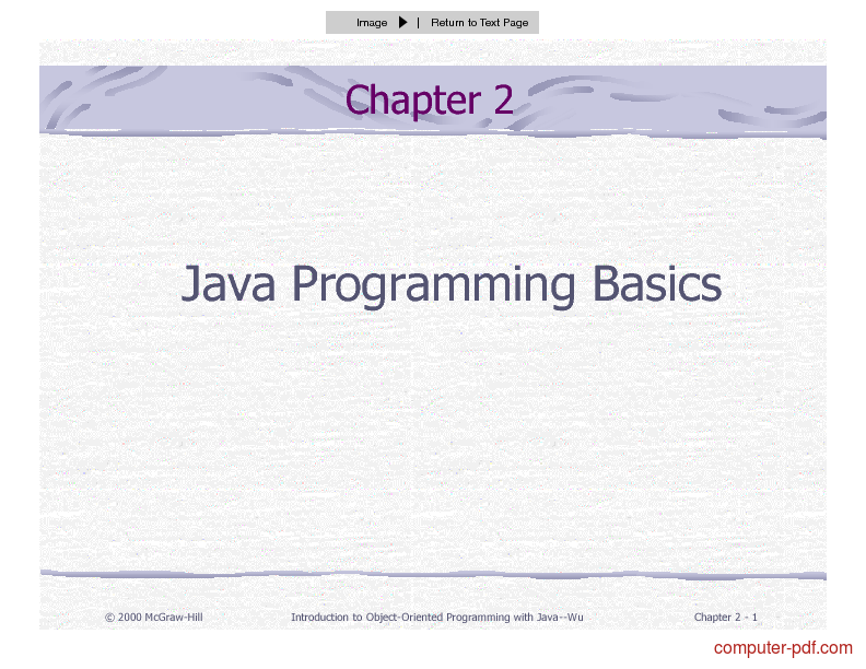 Learn basics of java pdf