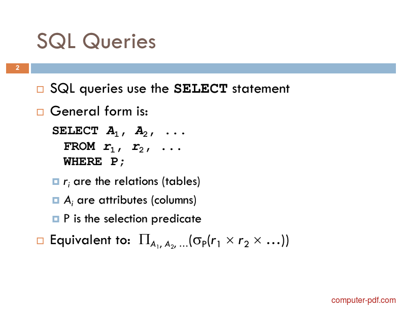 Learn about sql queries pdf