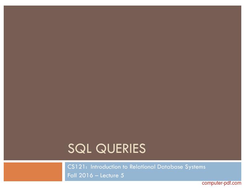 Tutorial SQL Queries 1