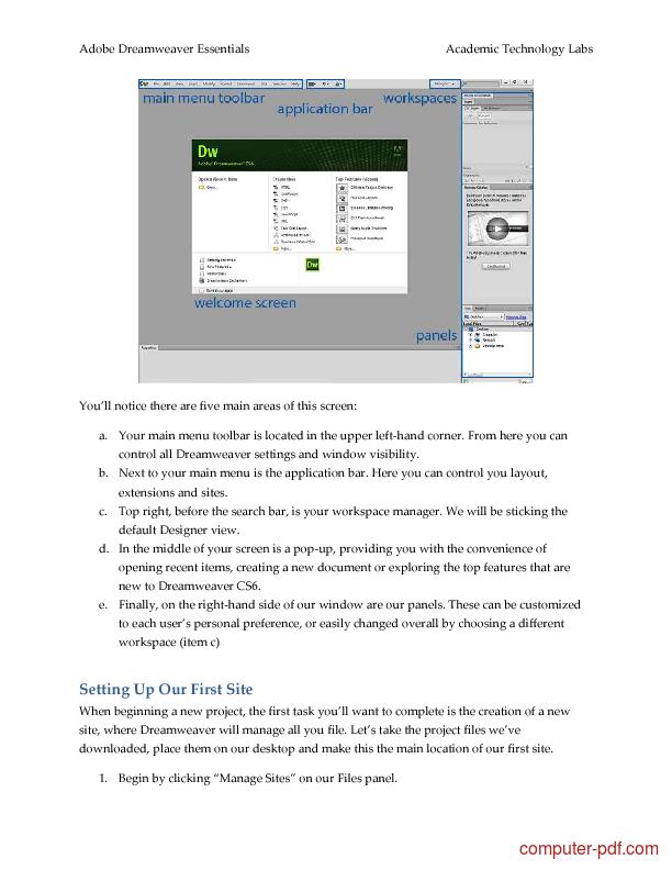Tutorial Adobe Dreamweaver Essentials 2