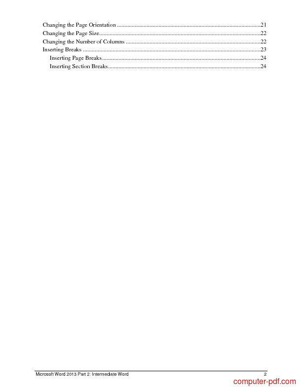pdf microsoft word 2013 part 2 free tutorial for intermediate