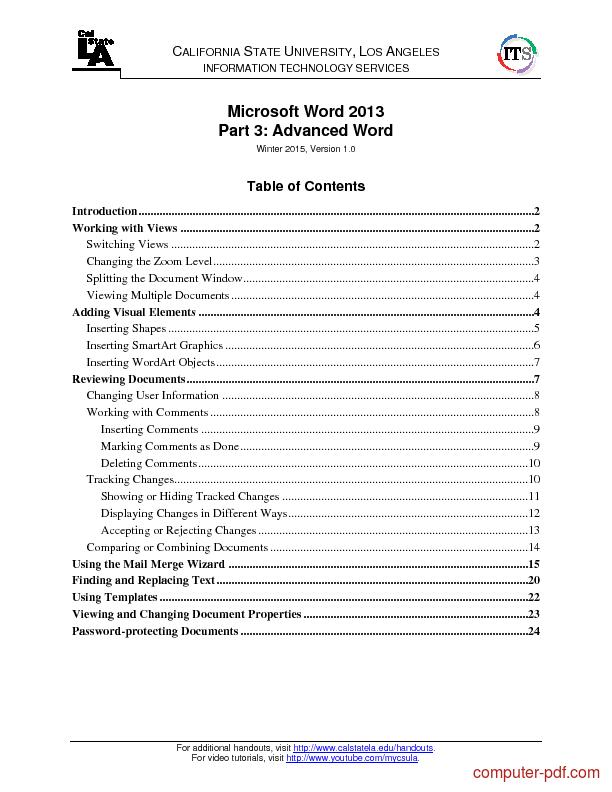 Advanced microsoft word tutorial pdf