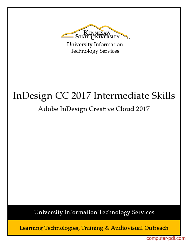 Tutorial InDesign CC 2017 Intermediate Skills 1