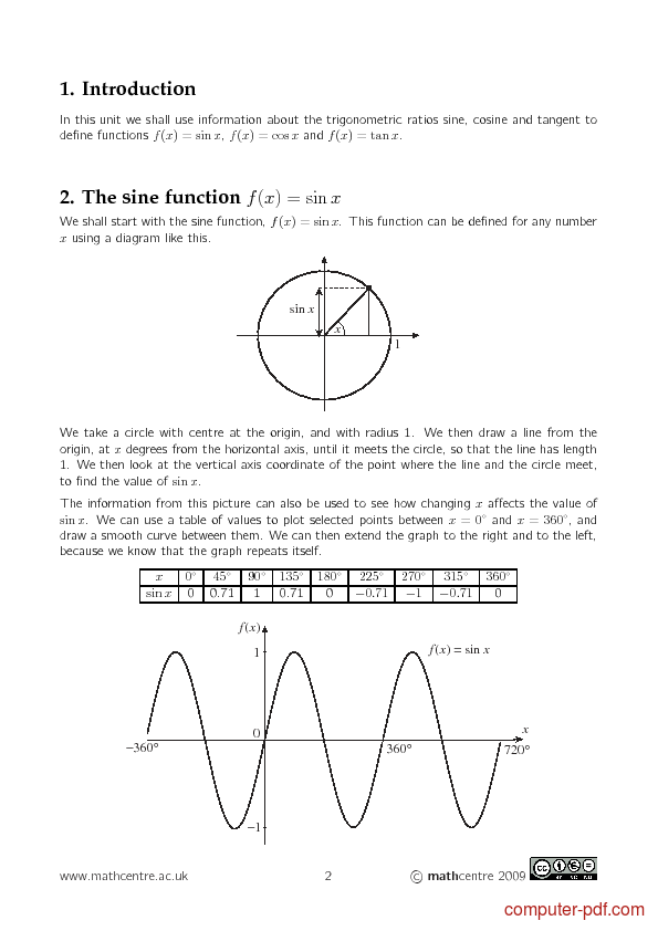 Tutorial Trigonometric functions 2