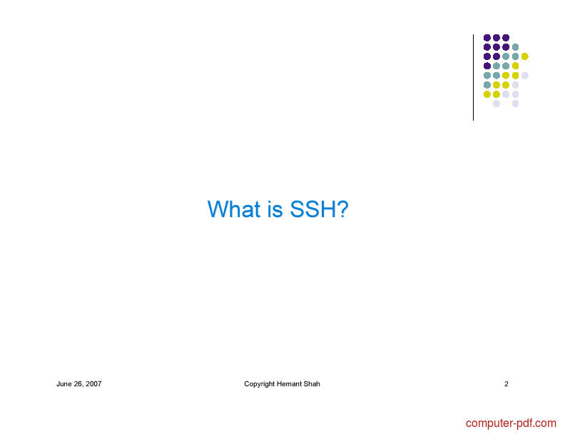 Tutorial SSH The Secure Shell 2