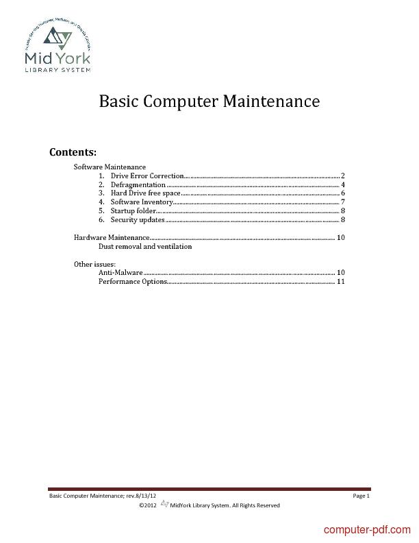 Tutorial Basic Computer Maintenance 1