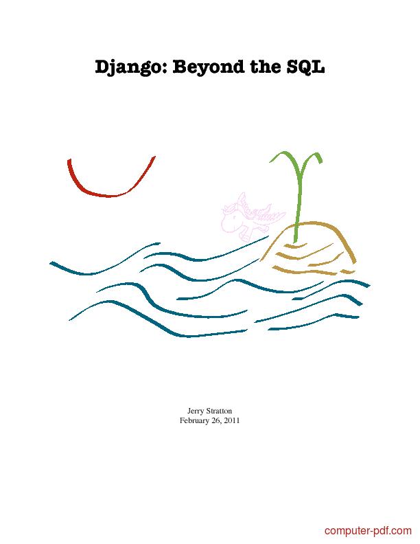 Tutorial Django: Beyond the SQL 1