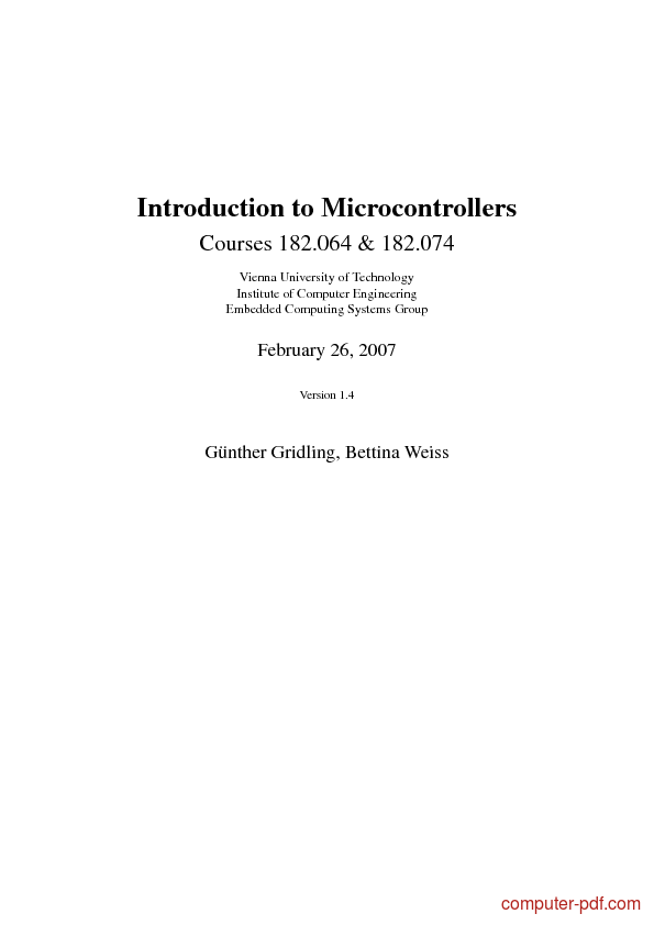 Tutorial Introduction to Microcontrollers 1