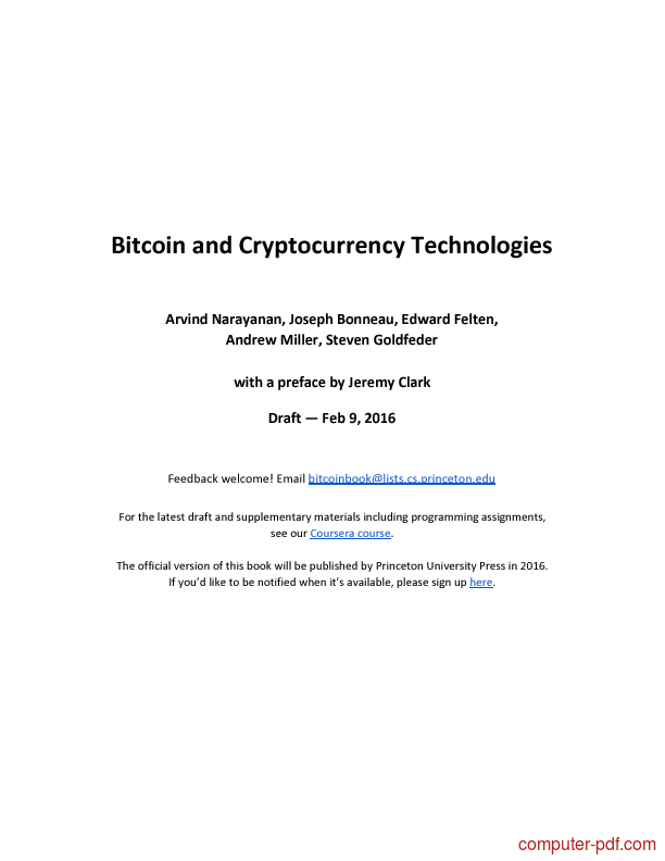 Tutorial Bitcoin and Cryptocurrency Technologies 1