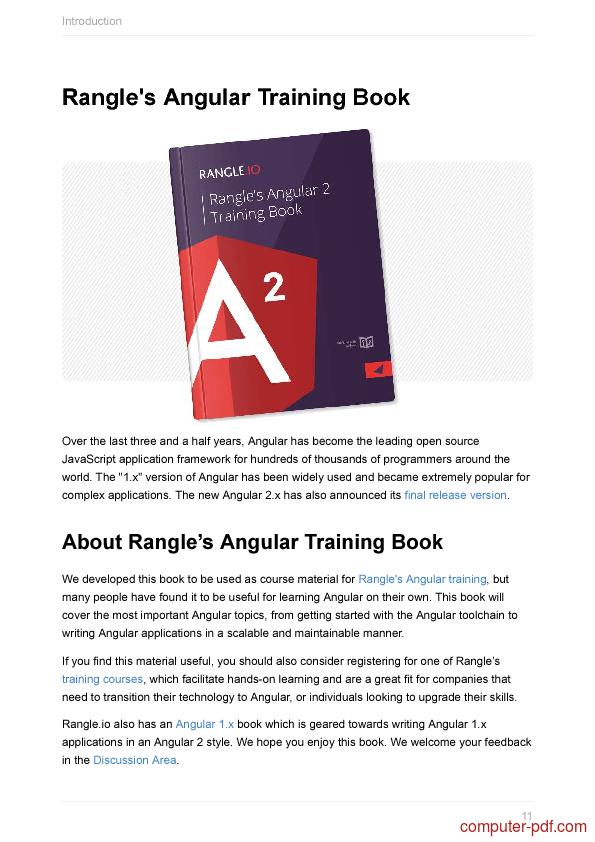 course Rangle's Angular 2 Training Book