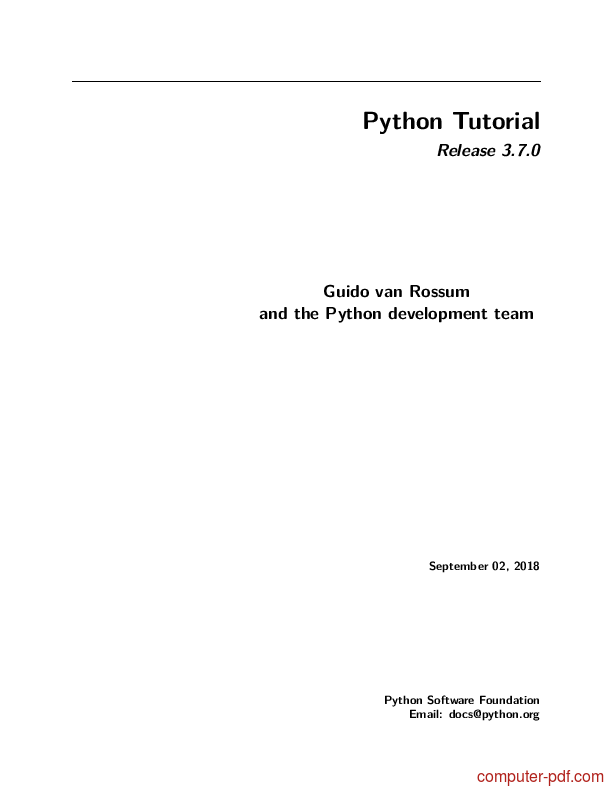 PDF] Python free tutorial for Beginners