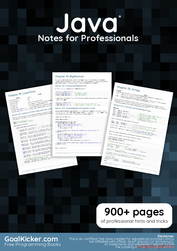 pdf  java notes for professionals book free tutorial for beginners
