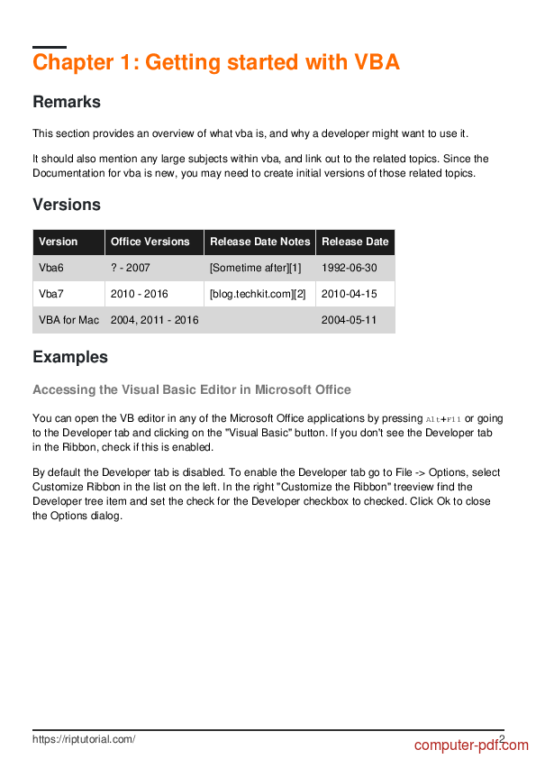 PDF] Learning VBA free tutorial for Beginners