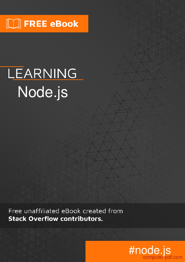 Pdf Learning Node Js Free Tutorial For Beginners
