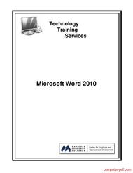 Tutorial Microsoft Word 2010