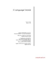 Tutorial C Language Tutorial