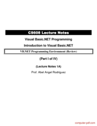 Tutorial Introduction to Visual Basic.NET