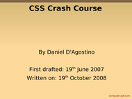 Tutorial CSS Crash Course