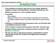 course Basic Computer Organization & Design