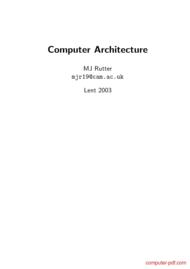 Tutorial Computer Architecture