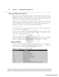 course Configuration Basic Networking