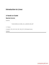 Tutorial Introduction to Linux