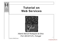 Tutorial Tutorial on Web Services