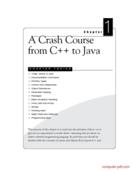 Tutorial A Crash Course from C++ to Java