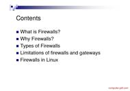 course Firewall Tutorial