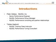 course Advanced MySQL Performance Optimization