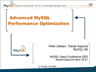 Tutorial Advanced MySQL Performance Optimization