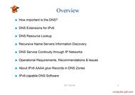 course IPv6 & DNS: DNSv6
