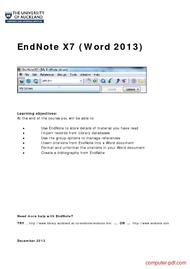 Tutorial EndNote X7 (Word 2013)