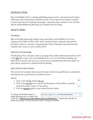 course Microsoft Publisher 2010