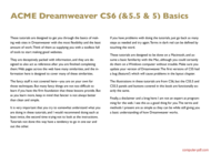 course Dreamweaver CS6 Basics