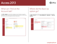 course Quick Start Guide Access 2013