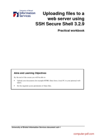 Tutorial Uploading files to a  web server using  SSH