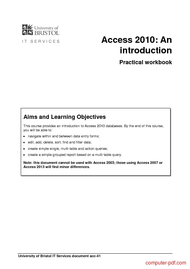 Tutorial Access 2010: An introduction