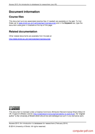 course Access 2013: databases for researchers