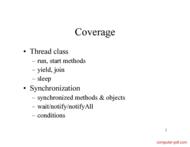 course Java Threads